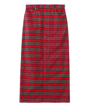 Load image into Gallery viewer, PLAID BUTTON-FRONT SKIRT, SKIRTS, X-Girl