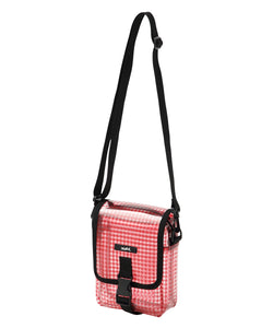 GINGHAM PLAID PVC SHOULDER BAG, ACCESSORIES, X-Girl