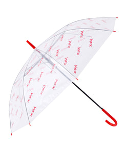 MILLS LOGO CLEAR UMBRELLA, ACCESSORIES, X-Girl