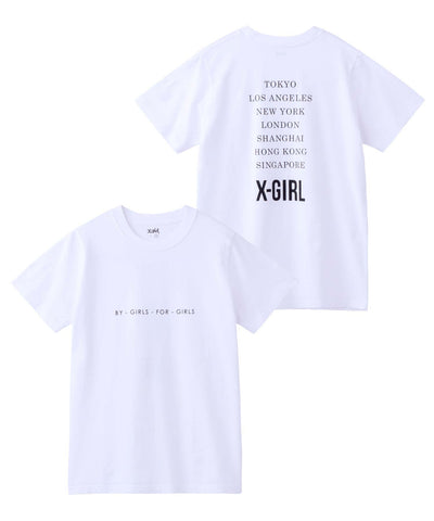 CITIES S/S REGULAR TEE, T-SHIRTS, X-Girl