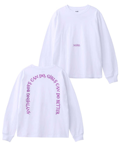 LETTERS L/S REGULAR TEE, T-SHIRTS, X-Girl