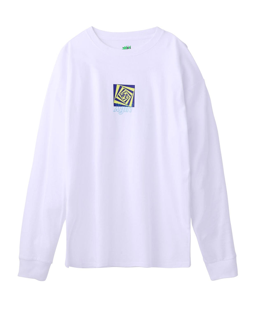 #1 DIZZY LOGO L/S BIG TEE, T-SHIRT, X-Girl