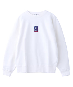 RECTANGLE LOGO CREW SWEAT TOP, HOODIES & SWEATERS, X-Girl