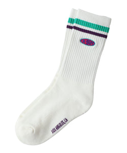 OVAL LOGO RIB SOCKS, ACCESSORIES, X-Girl