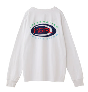 MULTI COLOR OVAL LOGO L/S REGULAR TEE - X-girl