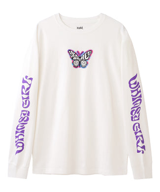 MARBLE BUTTERFLY L/S TEE