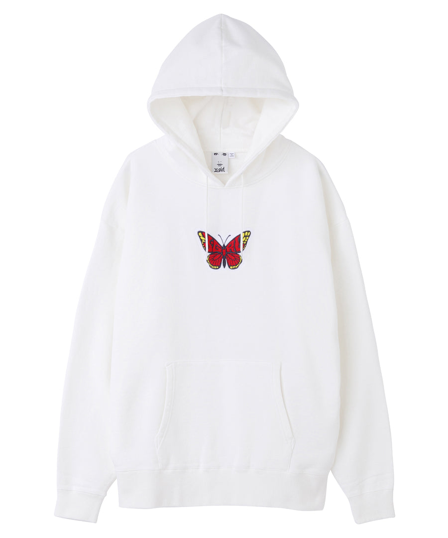 BUTTERFLY PATCH SWEAT HOODIE