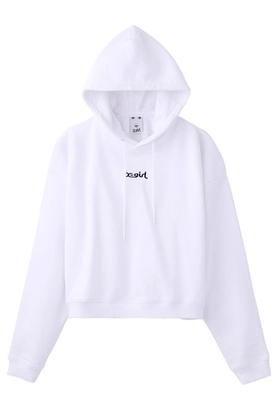 SOLID CROPPED SWEAT HOODIE, HOODIES & SWEATERS, X-Girl