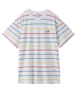 MULTI STRIPED H/S TEE, C&S, X-Girl