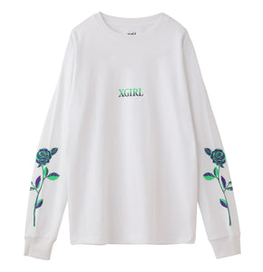 ROSE L/S REGULAR TEE, T-SHIRT, X-Girl