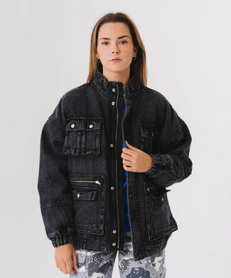 BOA DENIM JACKET, JACKET, X-Girl