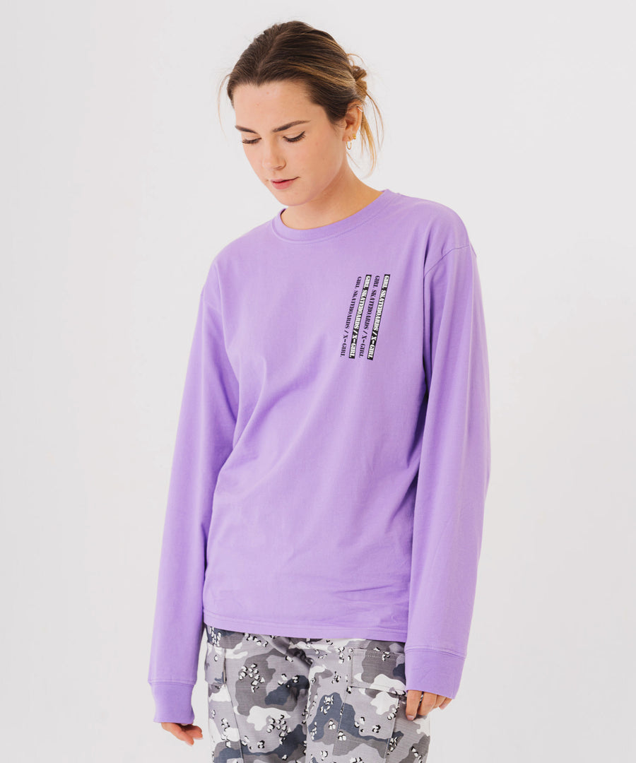 #1 X-girl x GIRL SKATEBOARDS L/S BIG TEE - X-girl