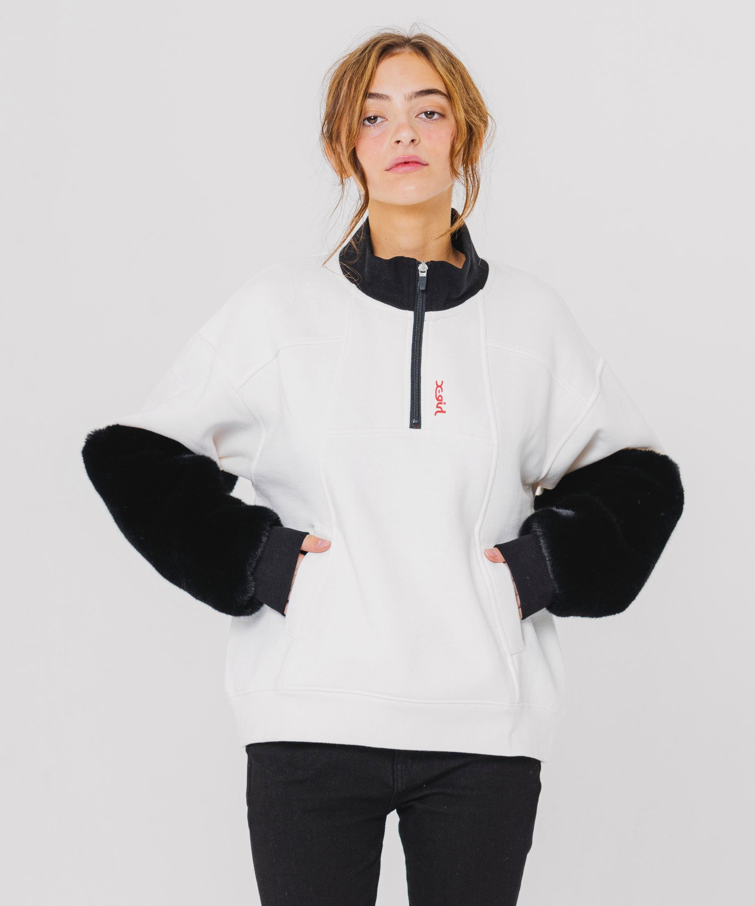 MONSTER SLEEVE ANORAK - X-girl