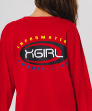 Load image into Gallery viewer, MULTI COLOR OVAL LOGO L/S REGULAR TEE - X-girl