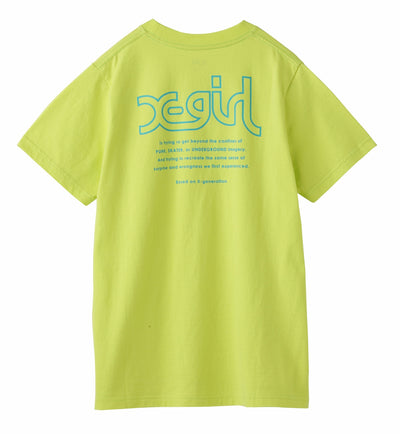 X-girl WORDS S/S REGULAR TEE, T-SHIRTS, X-Girl