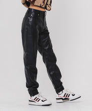 Load image into Gallery viewer, FAUX LEATHER JOGGER PANTS - X-girl