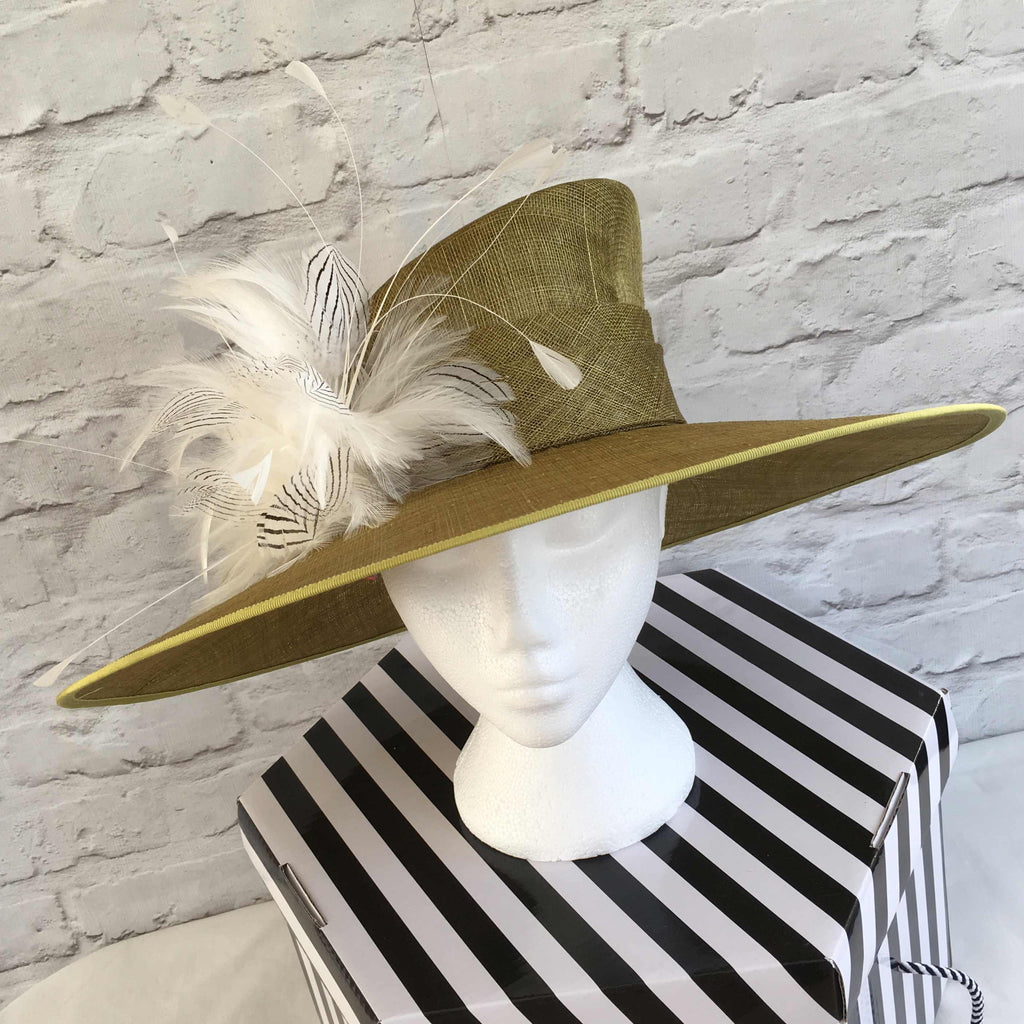 Penelope - This beautiful large statement hat is perfect for a wedding or derby day, such as Kentucky Derby or Royal Ascot ladies day.