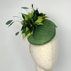 green wedding hat
