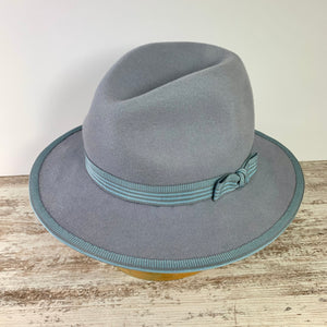 light grey felt fedora