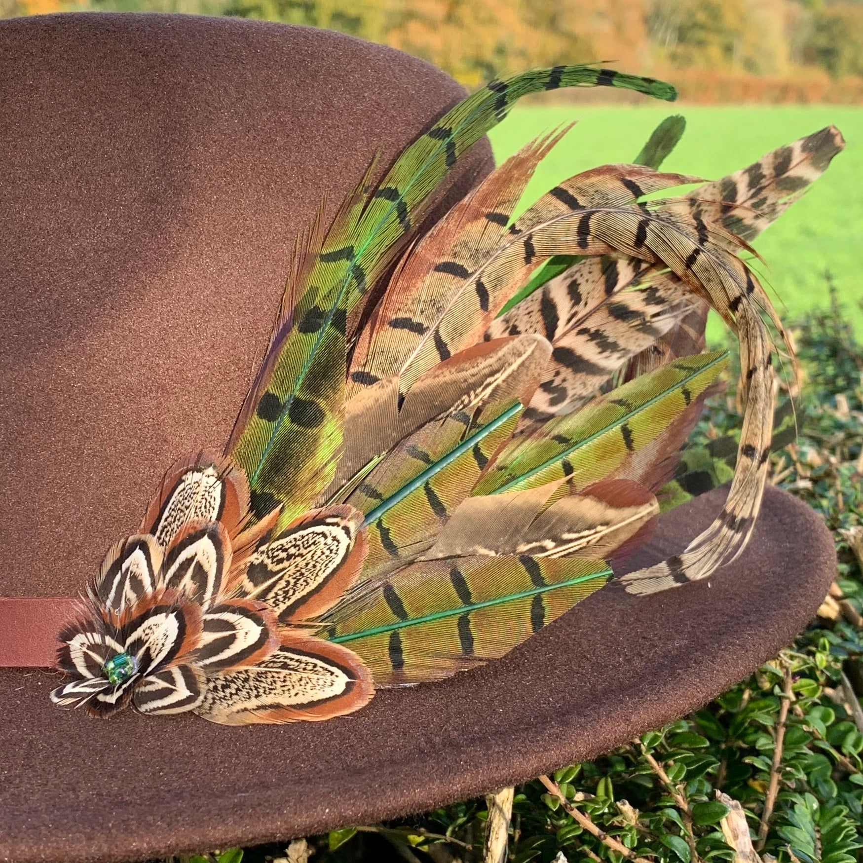 brown felt fedora