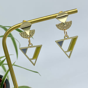 Jazz Triangle Drop Earrings