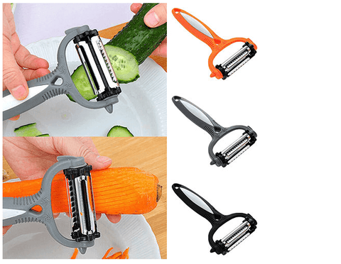 3 colors multifunctional 360-degree rotary vegetable fruit slicer