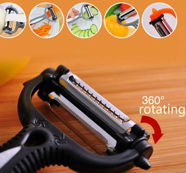 multifunctional 360 degree rotary vegetable fruit slicer