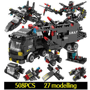 508 pcs military building block sets