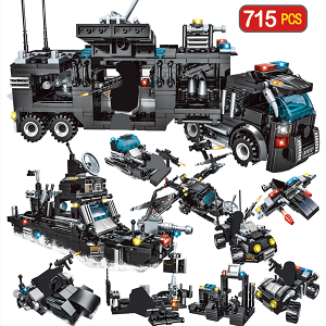 715 pcs building Block sets