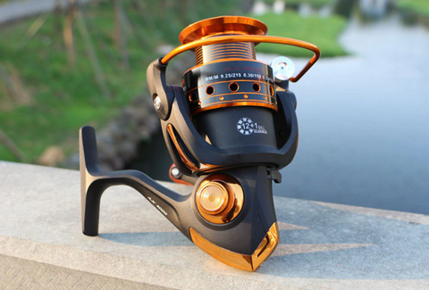 black color yumoshi fishing reels