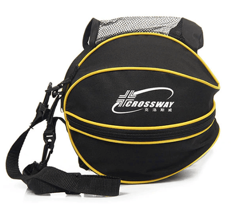 black color sports ball backpack