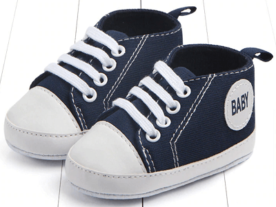 dark blue color's first walking baby shoes