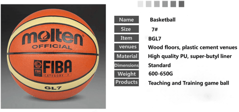 information of molten gl7 basketball