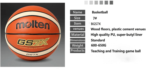 information of molten gs7x basketball