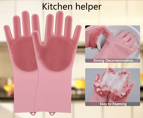 kitchen helper magic silicone gloves