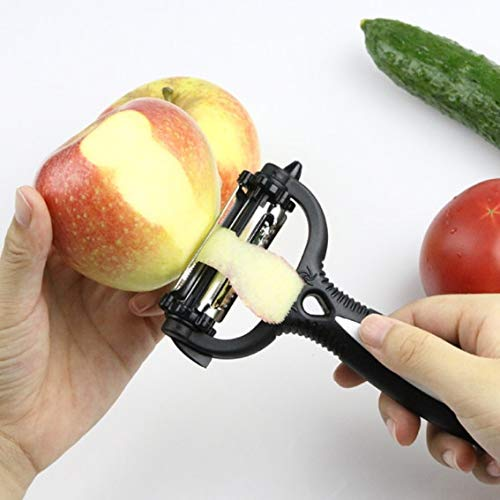 peeling the fruit by multifunctional 360 degree rotary vegetable fruit slicer