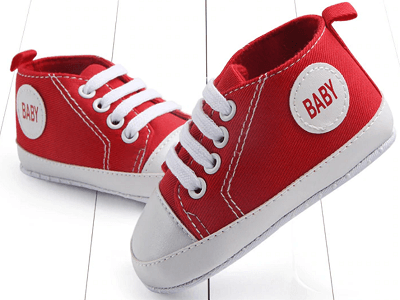 red color's first walking shoes for baby