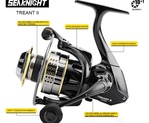 features of seaknight fishing reels