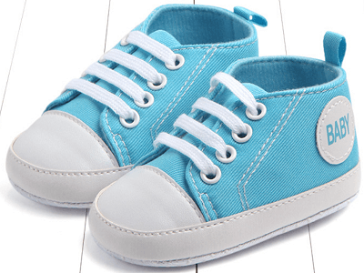 sky blue color's first walking shoes for baby