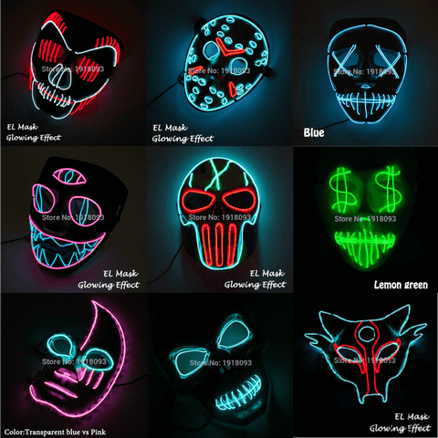 various LED mask halloween