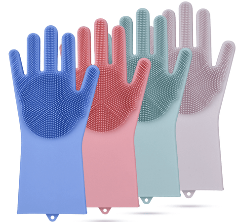 various colors magic silicone gloves