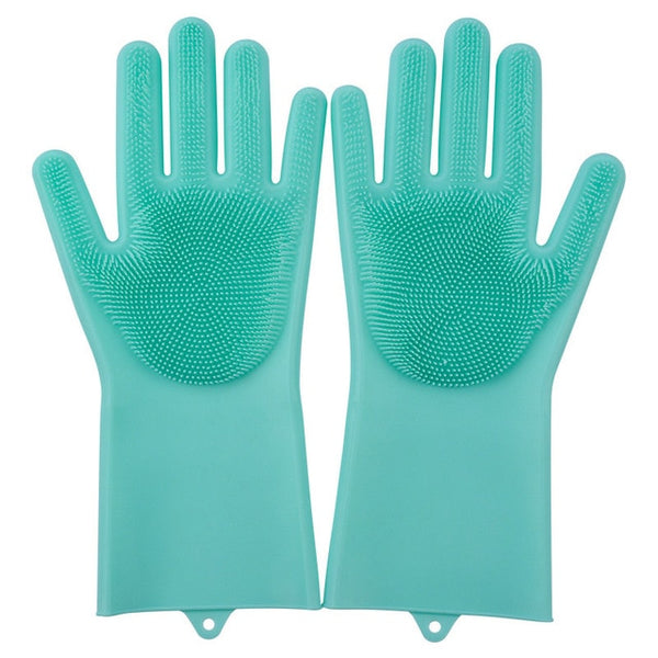 green color magic silicone gloves