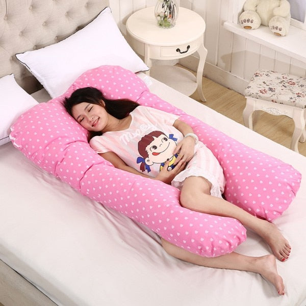 spot printed pregnancy pillow