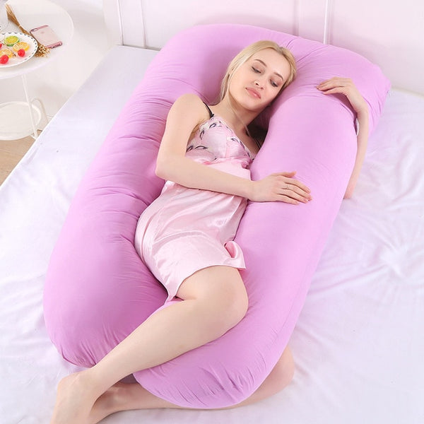 purple color pregnancy pillow