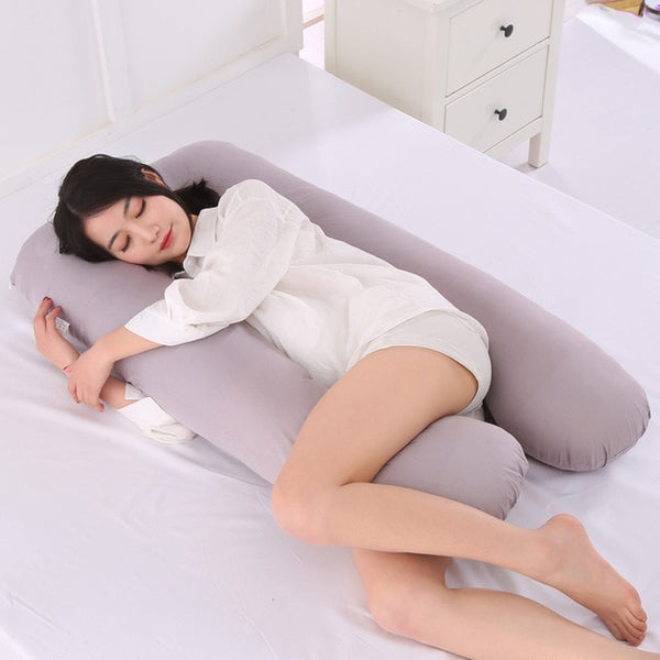 grey color pregnancy pillow