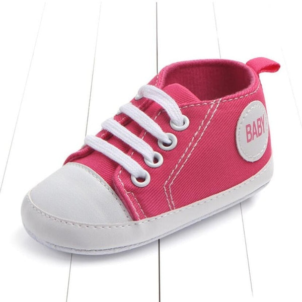 rose color's first walking baby shoes