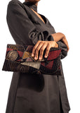 African Renaissance - Brown Print Clutch Bag Brown Print