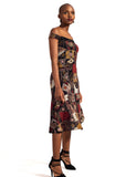 African Renaissance - Brown Print 3/4 Cocktail Dress
