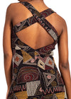 Women Wearing African Renaissance Back Crossed Dress