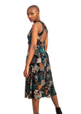African Renaissance - 3/4 Cocktail Dress Turquoise Print